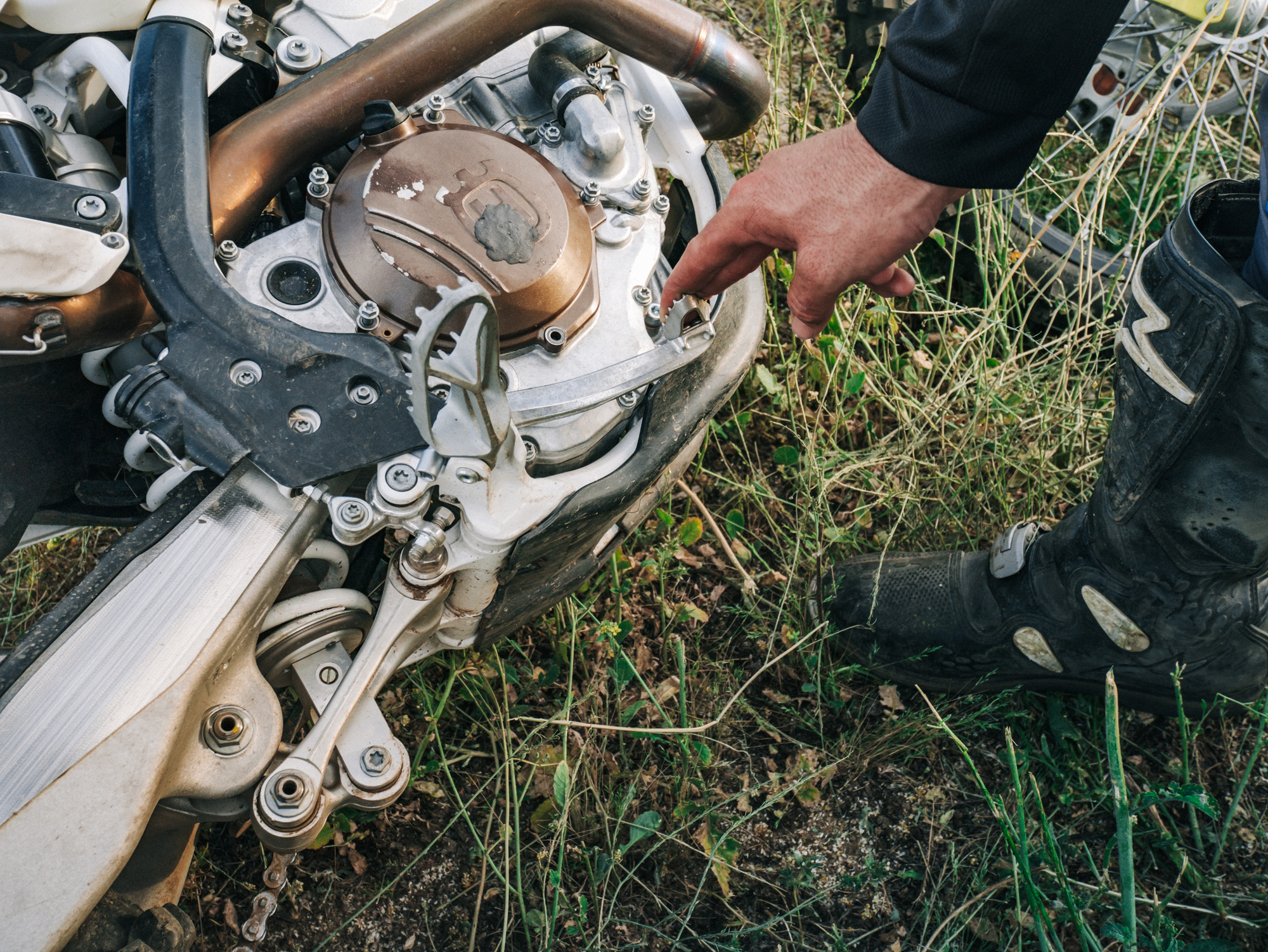 8. Pump rear brake before you get back on the bike. - This will return full pressure to the brake caliper and now you are ready to ride.