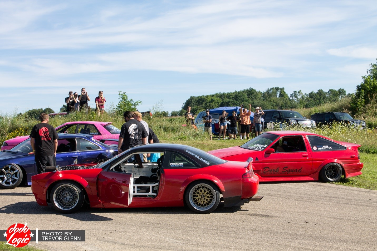 In the midst of all the fun, there was a little incident involving a couple of the cars…