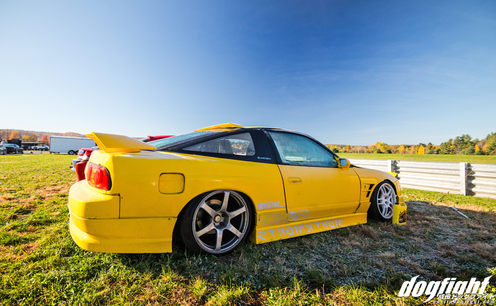 The third car in the team was this yellow hatch, also styled very similarly to the other three. This car actually had a really cool engine bay that I never got a chance to shoot. Overall a good look for the team.