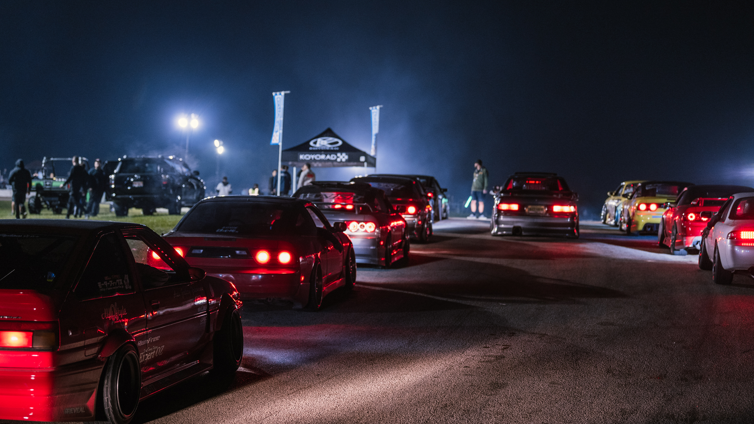 Night drift starting grid