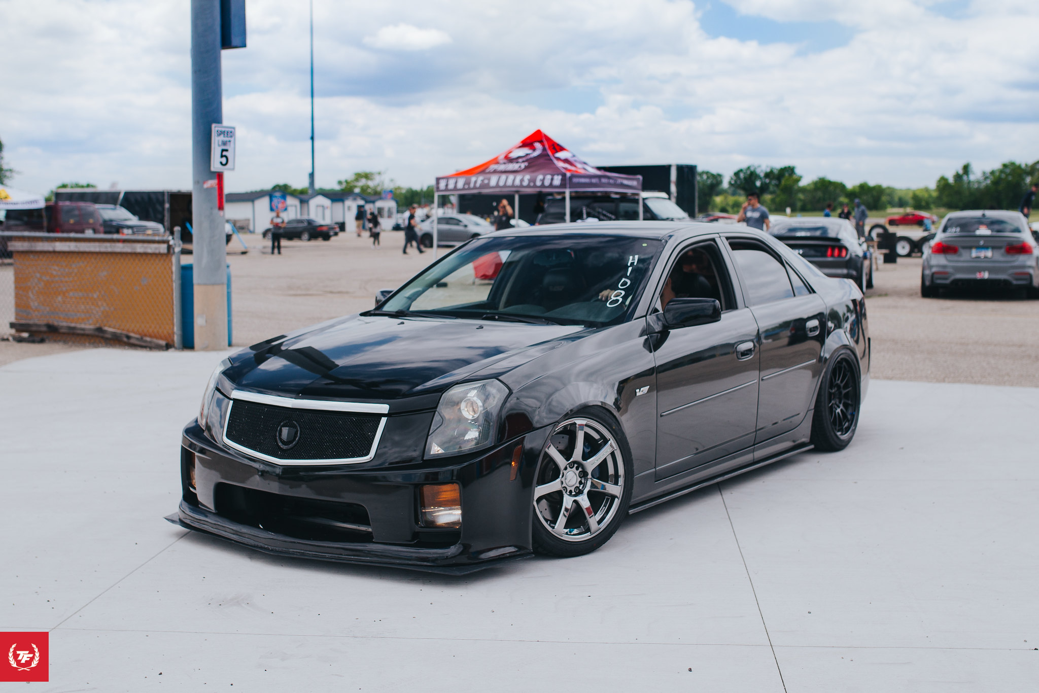 Machine Check(CTS-V) - Engine: 5.7 V8 LS6 oem configuration (400hp)Drivetrain: oem configuration w/SRX 3.90 LSDFootwork: Megan Racing coilovers (12kg/mm front and rear) creative steel bushings and adjustable linksAero: oem with personally customized front bumperWheels: Work emotion Xt7 18x8.5 +17 18x9.5 +27 235/40Interior: buddy club bucket seat