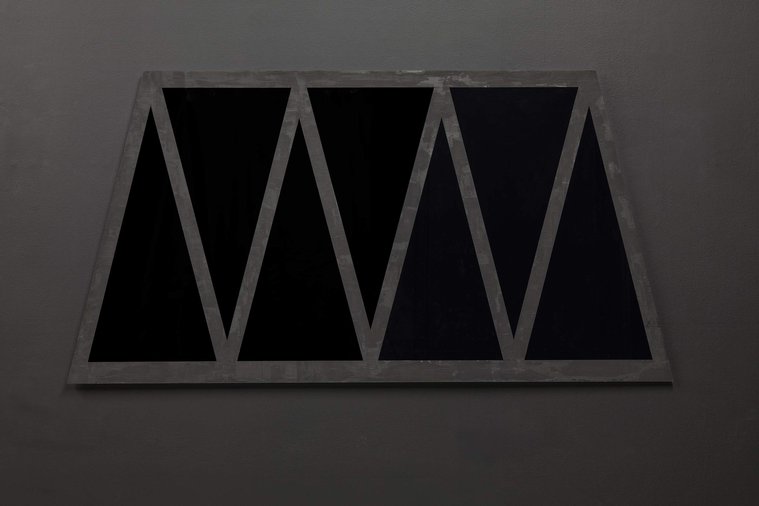 Untitled ( window to Bobby Fischer) part 2, acrylic on black perspex