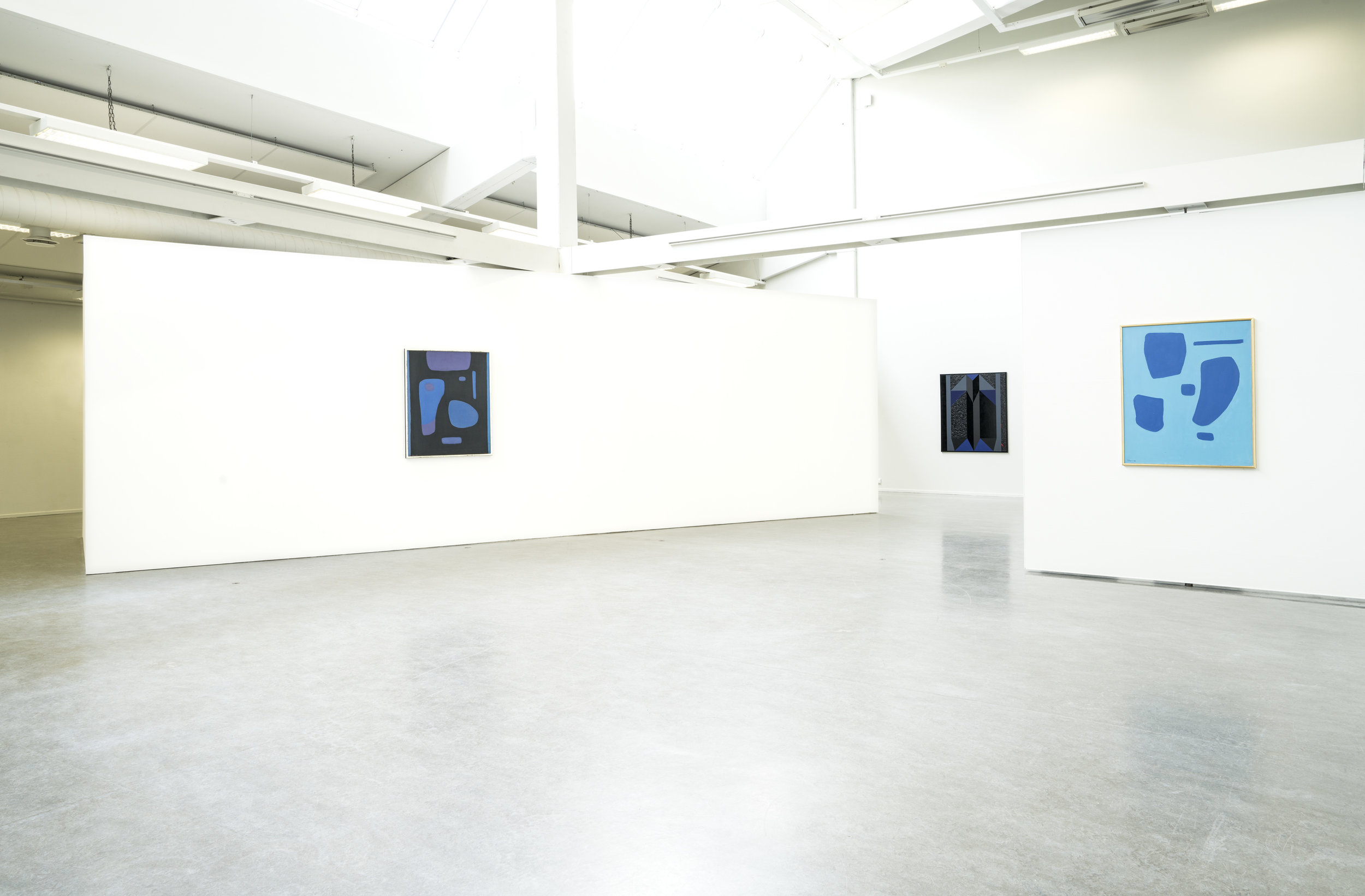 Installation view From left: Johs.Rian, Arve Hovig, Johs. Rian