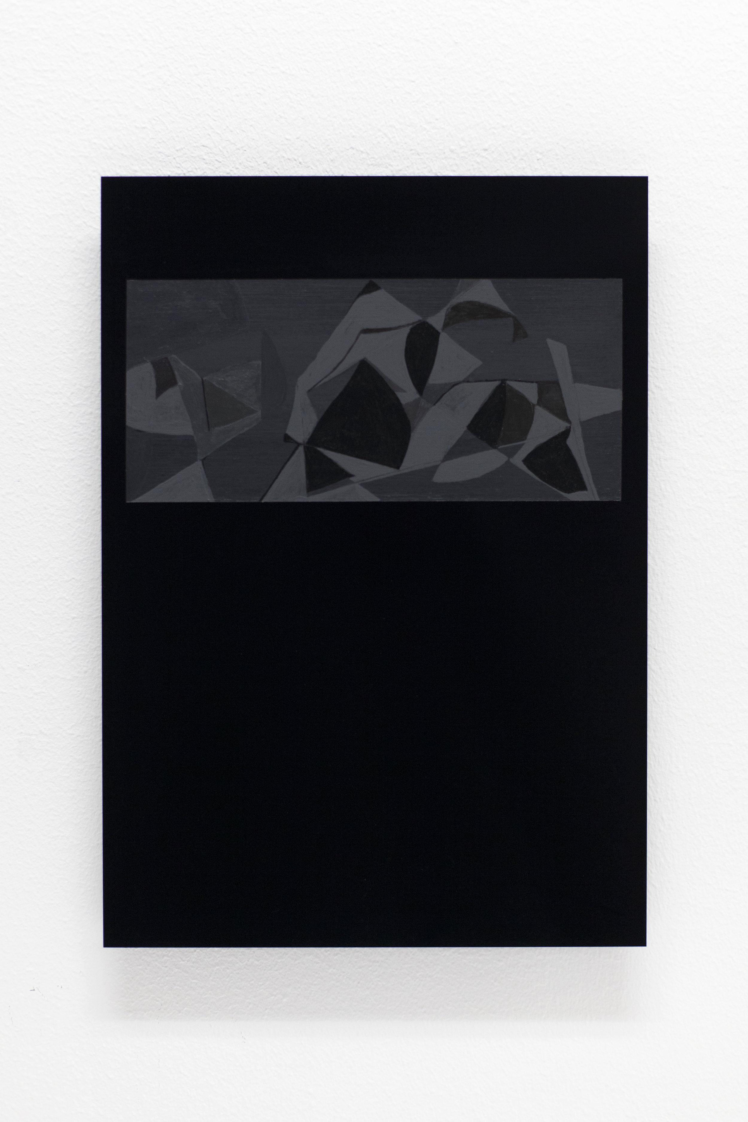 Black Letter nr.139 ( to Jakob Weidemann)  Acrylic on black perspex 29,7 x 21 cm