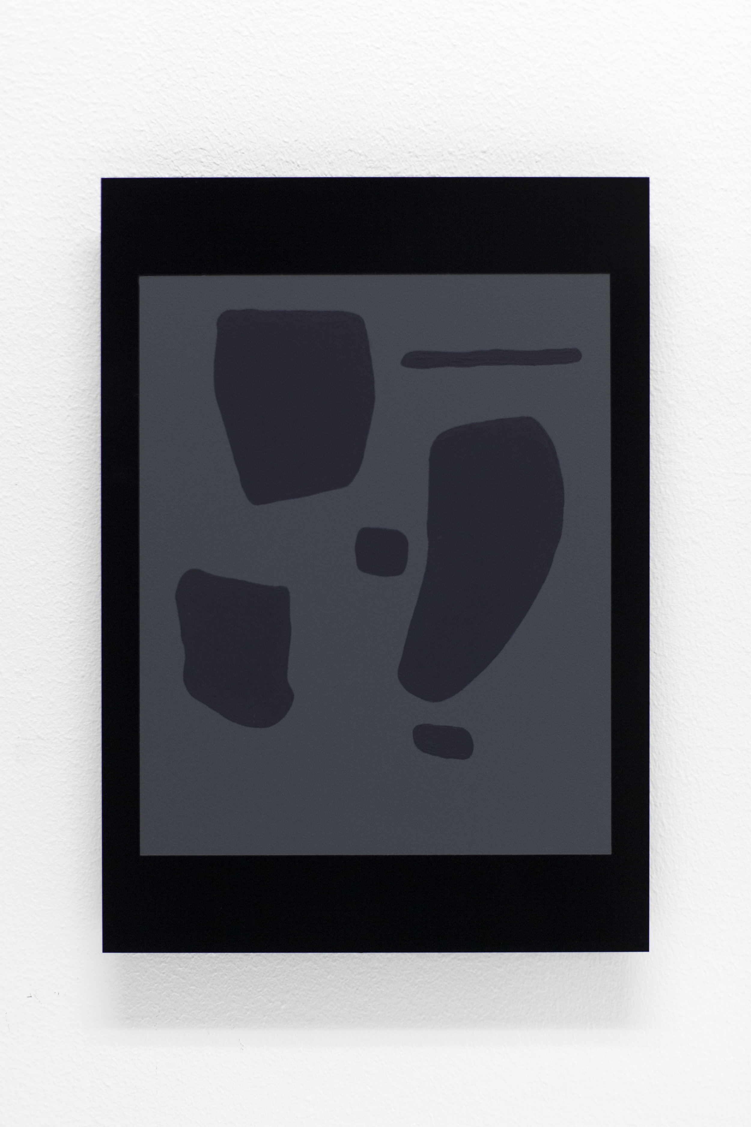 Black Letter nr.142 ( to Johs. Rian )    Acrylic on black perspex 29,7 x 21 cm
