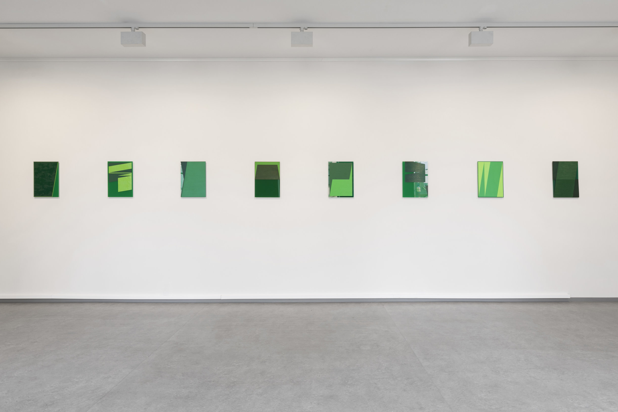 The Green Series , Acrylic and Oil on Green Perspex 42 x 29,7 cm each ( A3 size )
