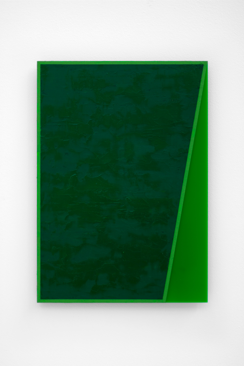 The Green Series nr. 7 42 x 29,7 cm ( A3 Size ) Oil and arylic on green perspex