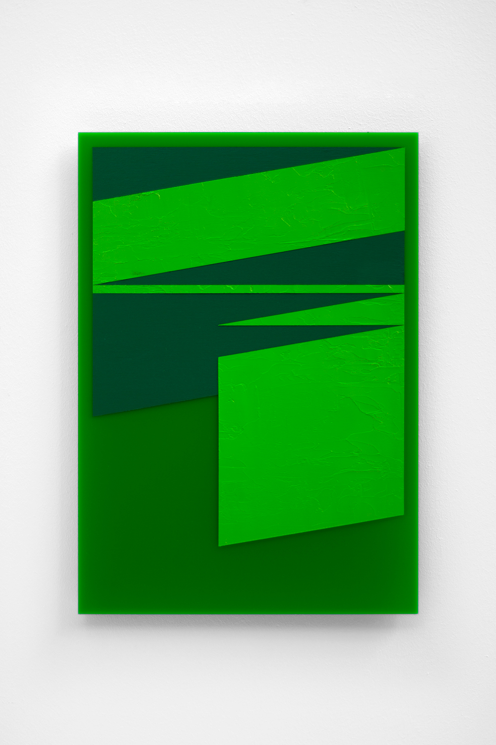 The Green Series nr. 8 42 x 29,7 cm ( A3 Size ) Oil and arylic on green perspex