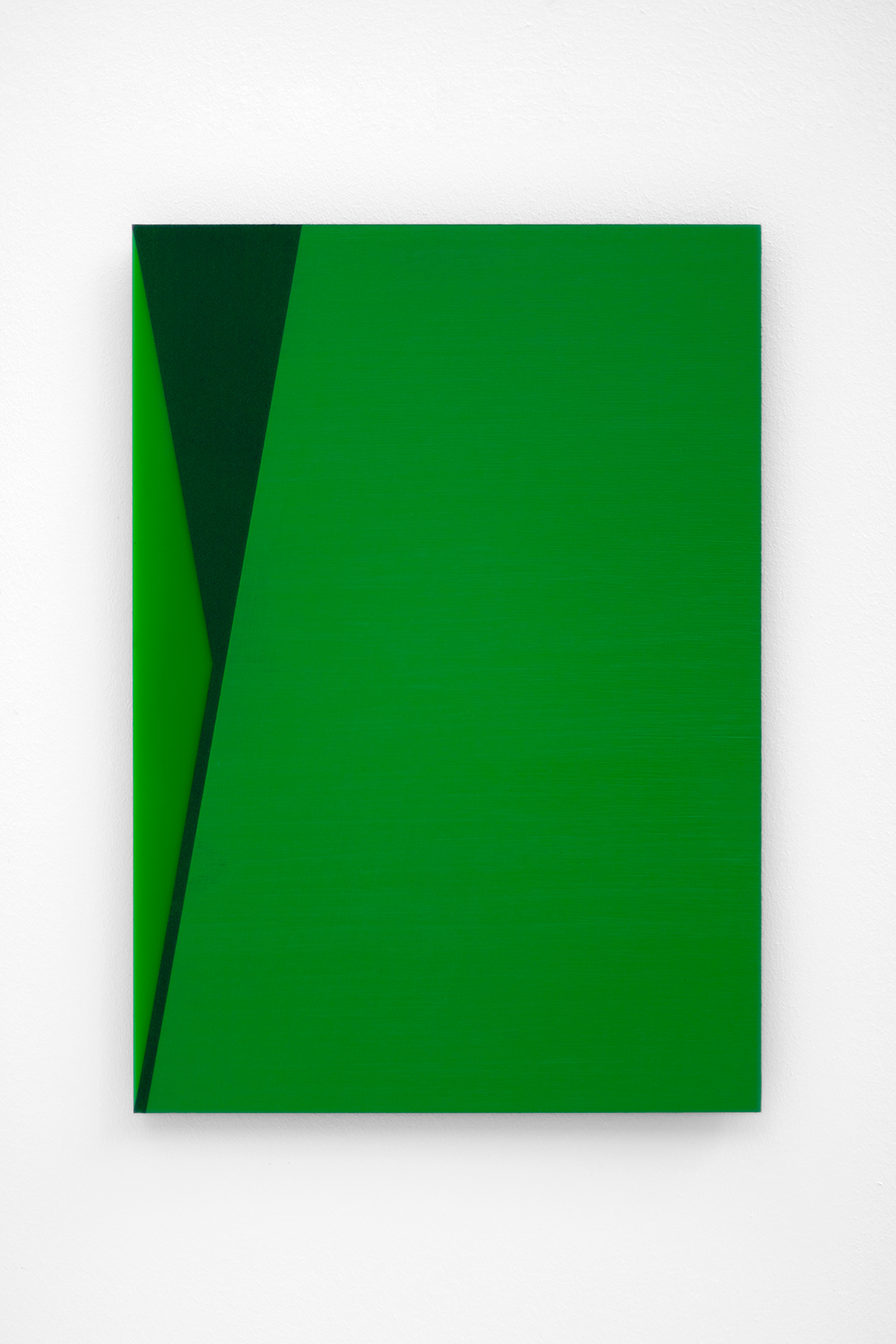 The Green Series nr. 9 42 x 29,7 cm ( A3 Size ) Oil and arylic on green perspex