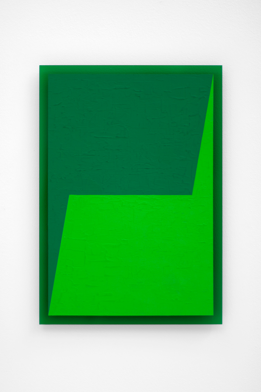 The Green Series nr. 11 42 x 29,7 cm ( A3 Size ) Vinylpaint on green perspex