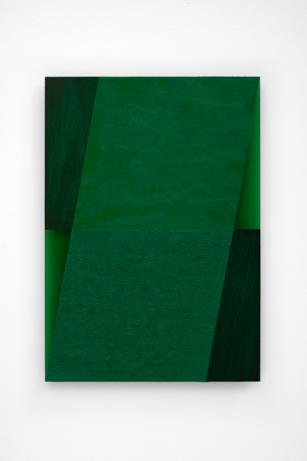 The Green Series nr. 14 42 x 29,7 cm ( A3 Size ) Oil and arylic on green perspex