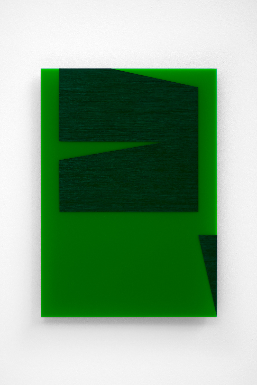 The Green Series nr. 12 42 x 29,7 cm ( A3 Size ) Oil and arylic on green perspex