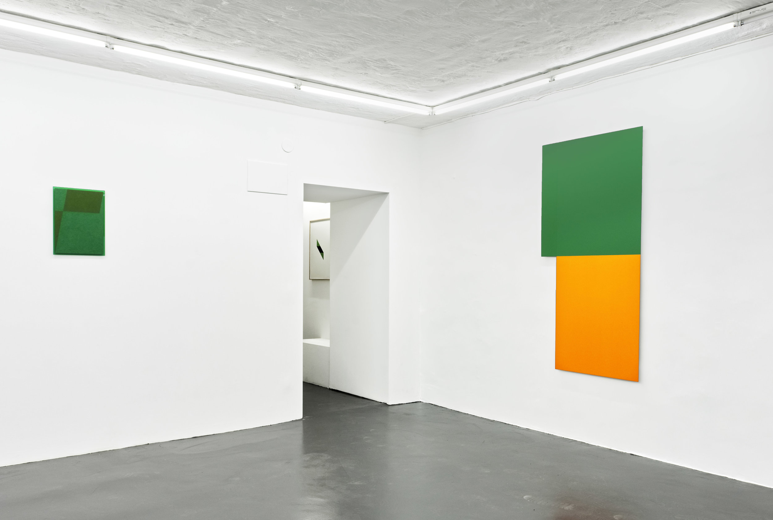 The Green Series nr. 17  and  Irregular Painting ( radiator cut out )
