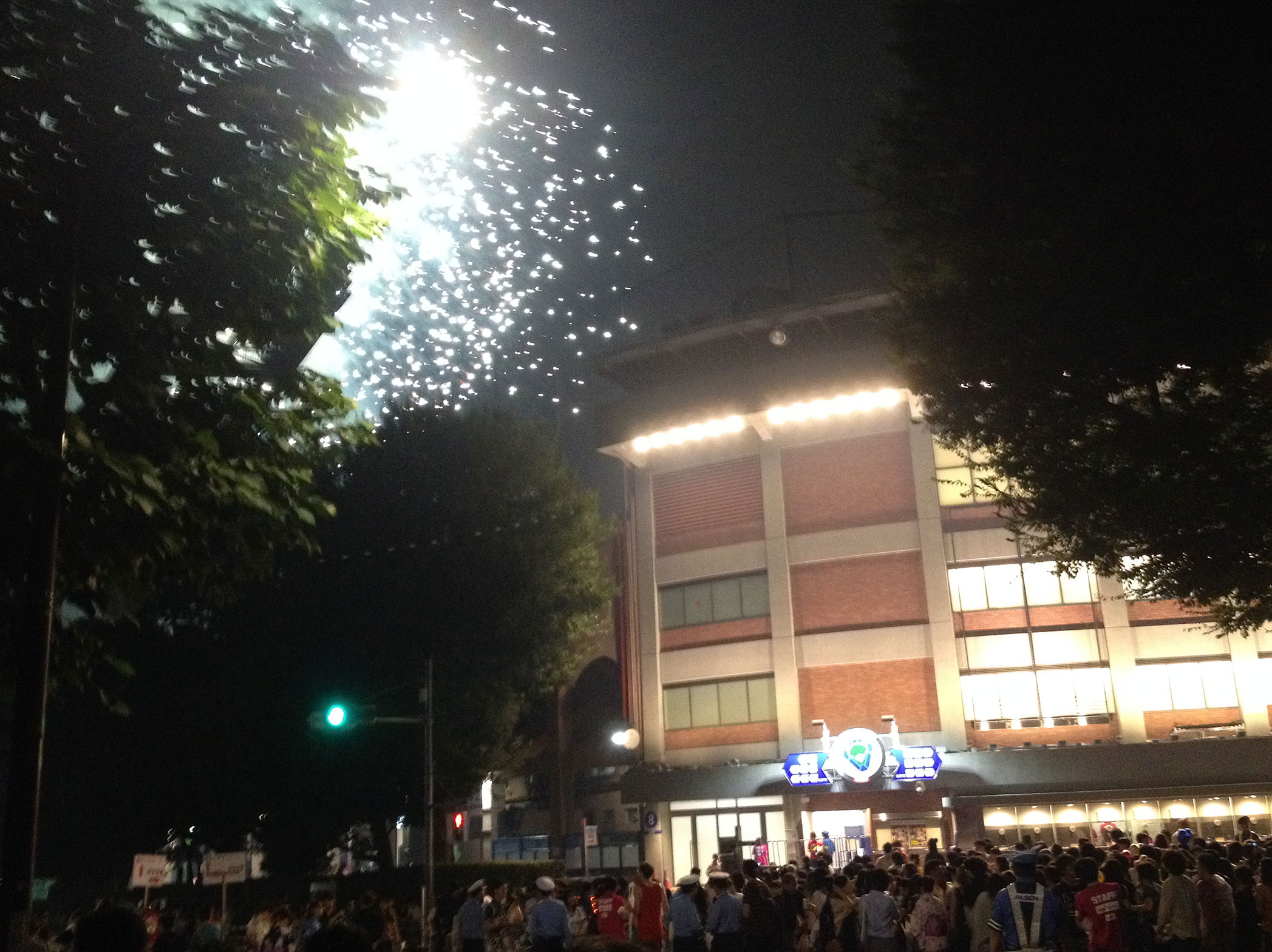 Hanabi festival...those fireworks look awfully close there...
