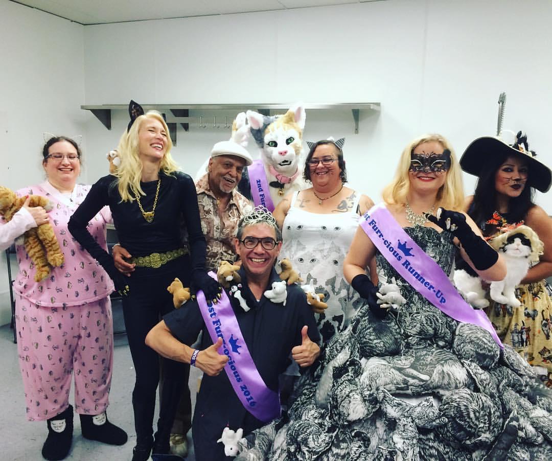 Furr-ocious Fashion Face-off contestants. Photo courtesy Amy Raasch.