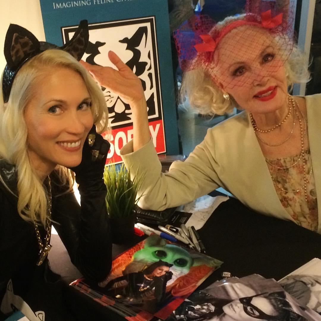 Amy Raasch meets Julie Newmar.Photo courtesy Amy Raasch.