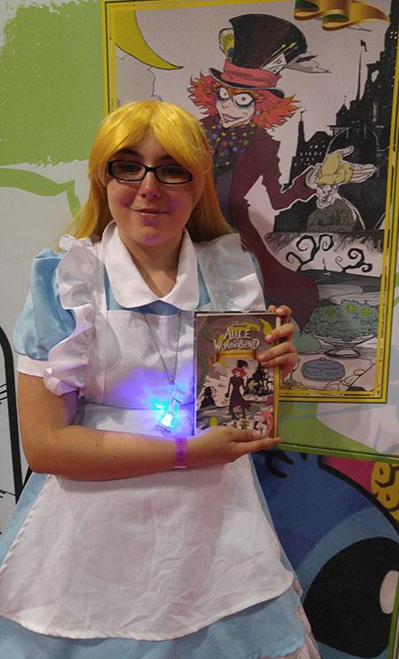 Alice loves her manga.