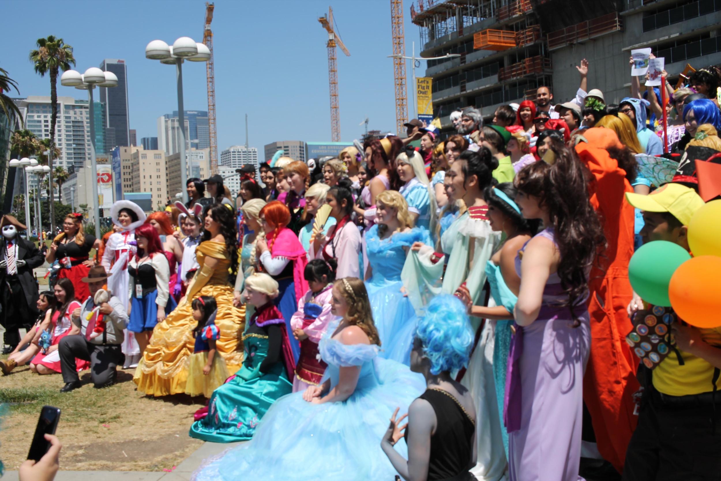 Disney cosplay gathering.