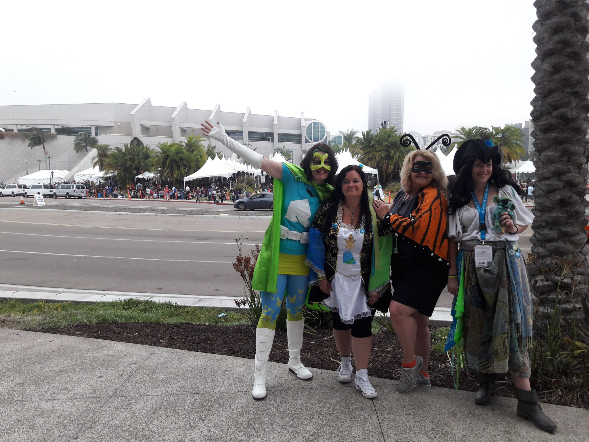 The Kindness Superheroes outside the San Diego Convention Center.