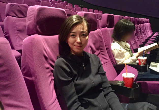MP Saito at the movies with her daughter.
