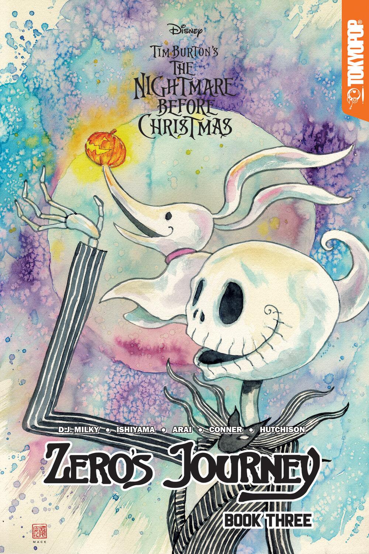 Disney Manga The Nightmare Before Christmas Zero S Journey Book 3 David Mack Variant Tokyopop