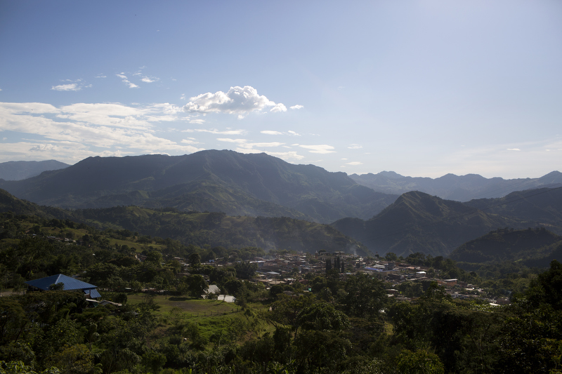 Muzo is seen nestled between mountains in department of Boyacá, Colombia, on July 25, 2015. Few countries are as rich in emeralds as Colombia, making it the world's leading producer, with the majority of global production.