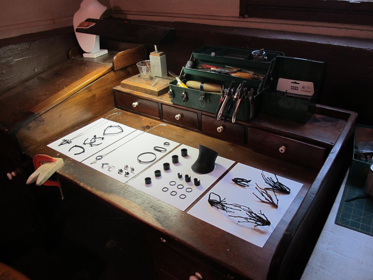 Hvnterer Gvtherer on display in Laura's studio