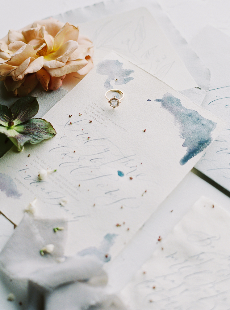 WEDDING RINGS  Susie Saltzman | PAPER GOODS & CALLIGRAPHY  Kelsey Malie Calligraphy