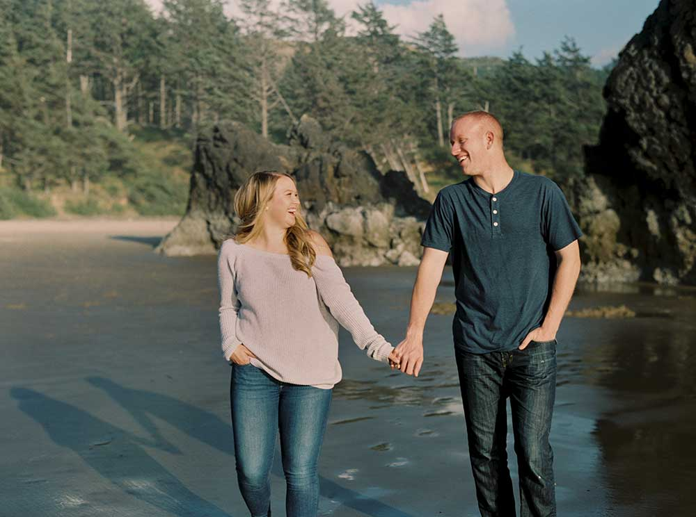 Arcadia Beach Engagement Session by Outlive Creative