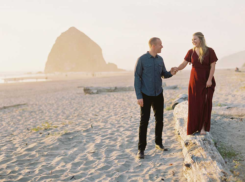 Cannon Beach Engagement Session by Outlive Creative