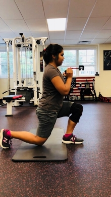 12 year old demonstrating some super functional reverse lunges