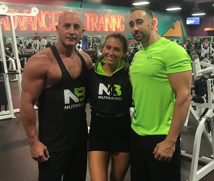 Mark, Amanda and Mike during their 5am workout at the Las Vegas Athletic Club before the Olympia Expo.