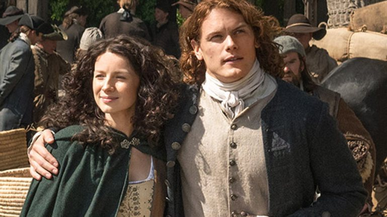 Claire and Jamie Fraser fresh off the boat from Scotland
