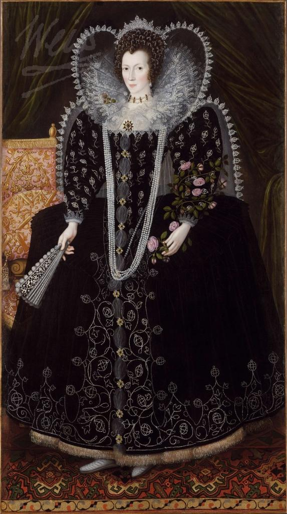 Frances Howard, Countess of Kildare by 1601 when she acquired a new husband and the title Baroness Cobham. This image courtesy of the Weiss Gallery.