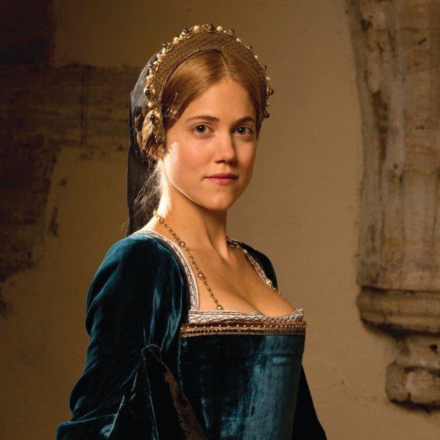 Charity Wakefield as Mary Boleyn in  Wolf Hall.