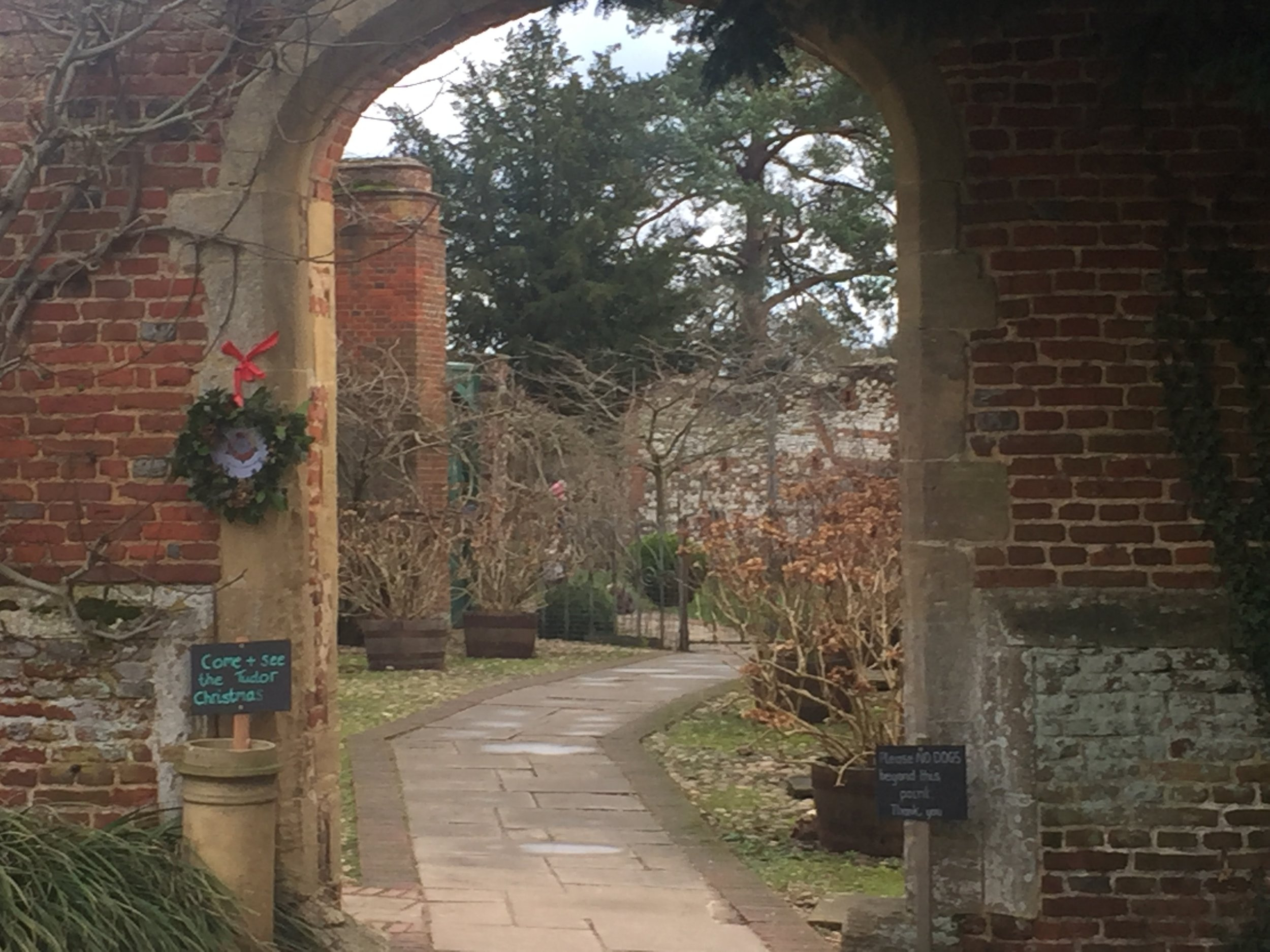 Entering the gardens at Greys Court.