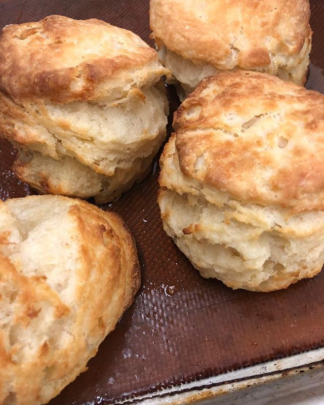 OK OK! Our hot biscuits out of the oven. A must have!