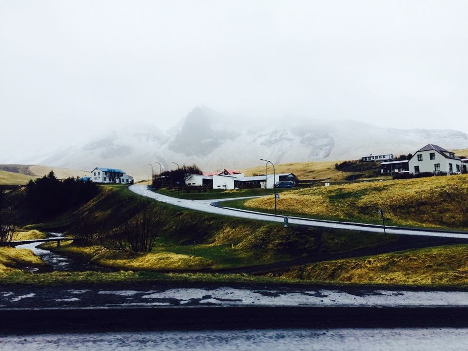 Small town of Vik, South Iceland