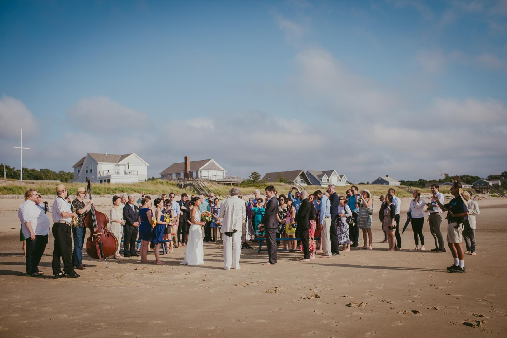The wedding ceremony on the beach, NY