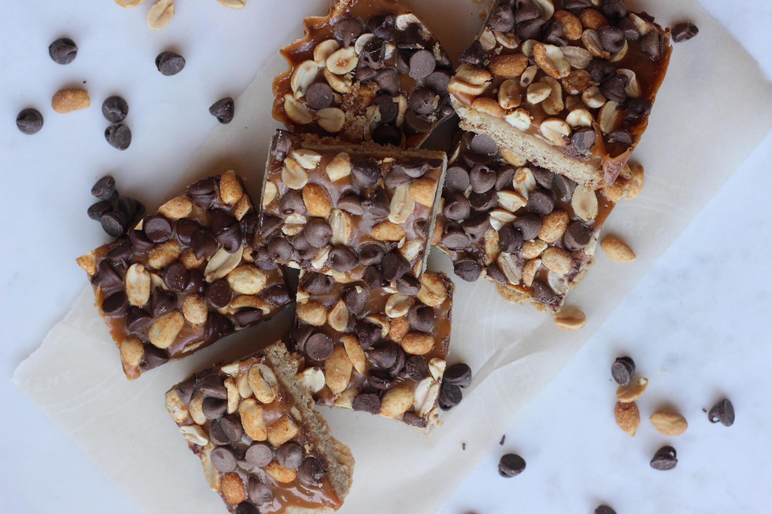 Salty Chocolate Caramel Bars