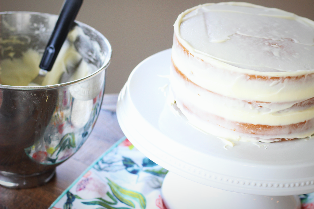 Crumb Coat- the secret first layer to a pretty frosted cake
