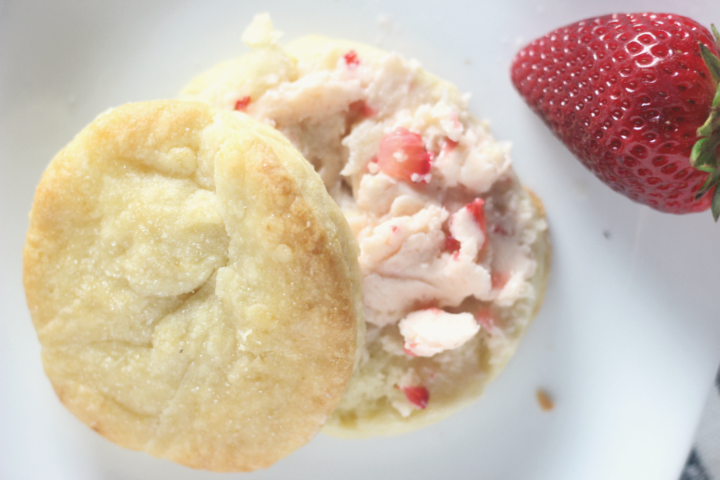 homemade biscuits with strawberry butter
