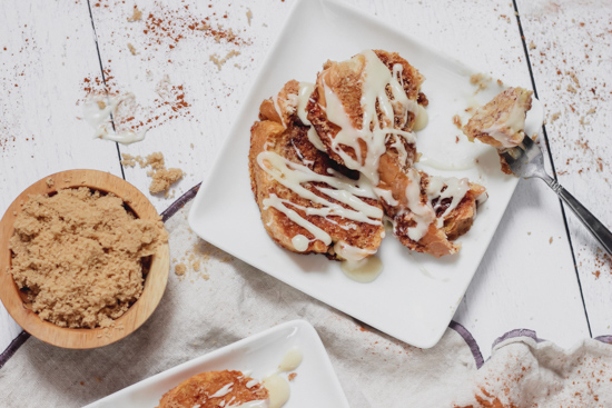 Cinnamon Roll Baked French Toast