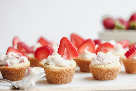 Strawberry Shortcake Sugar Cookie Cups