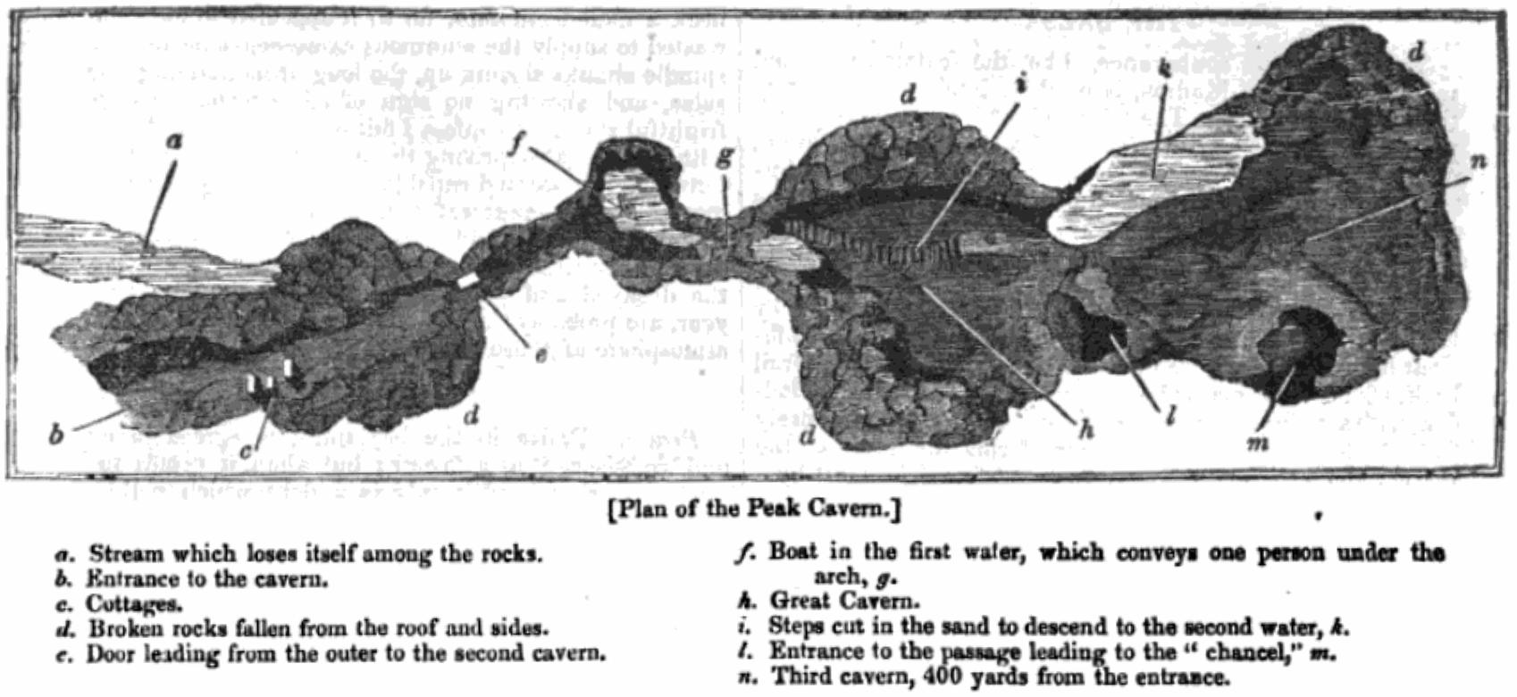 Plan of Peak Cavern