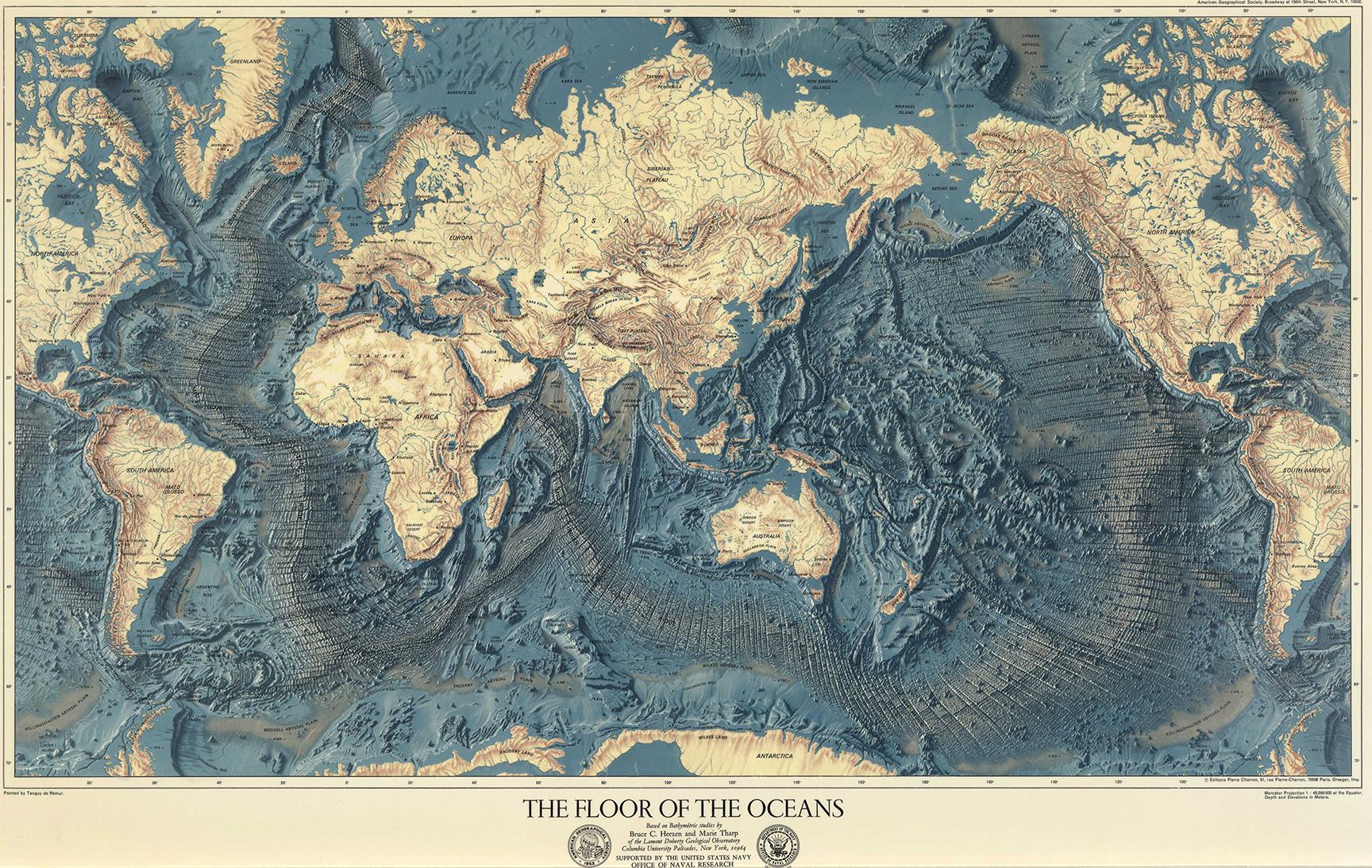 Tanguy de Rémur, Bruce C. Heezen, & Marie Tharp - The Floor of the Oceans (1975)