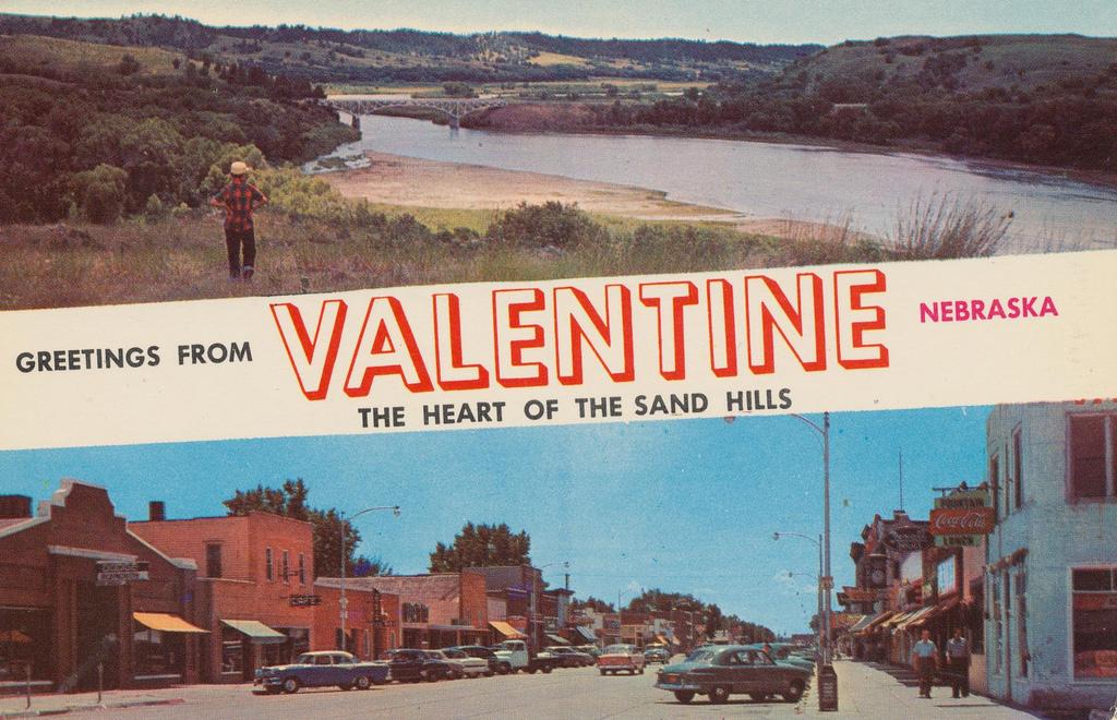 Postcard of Valentine, Nebraska