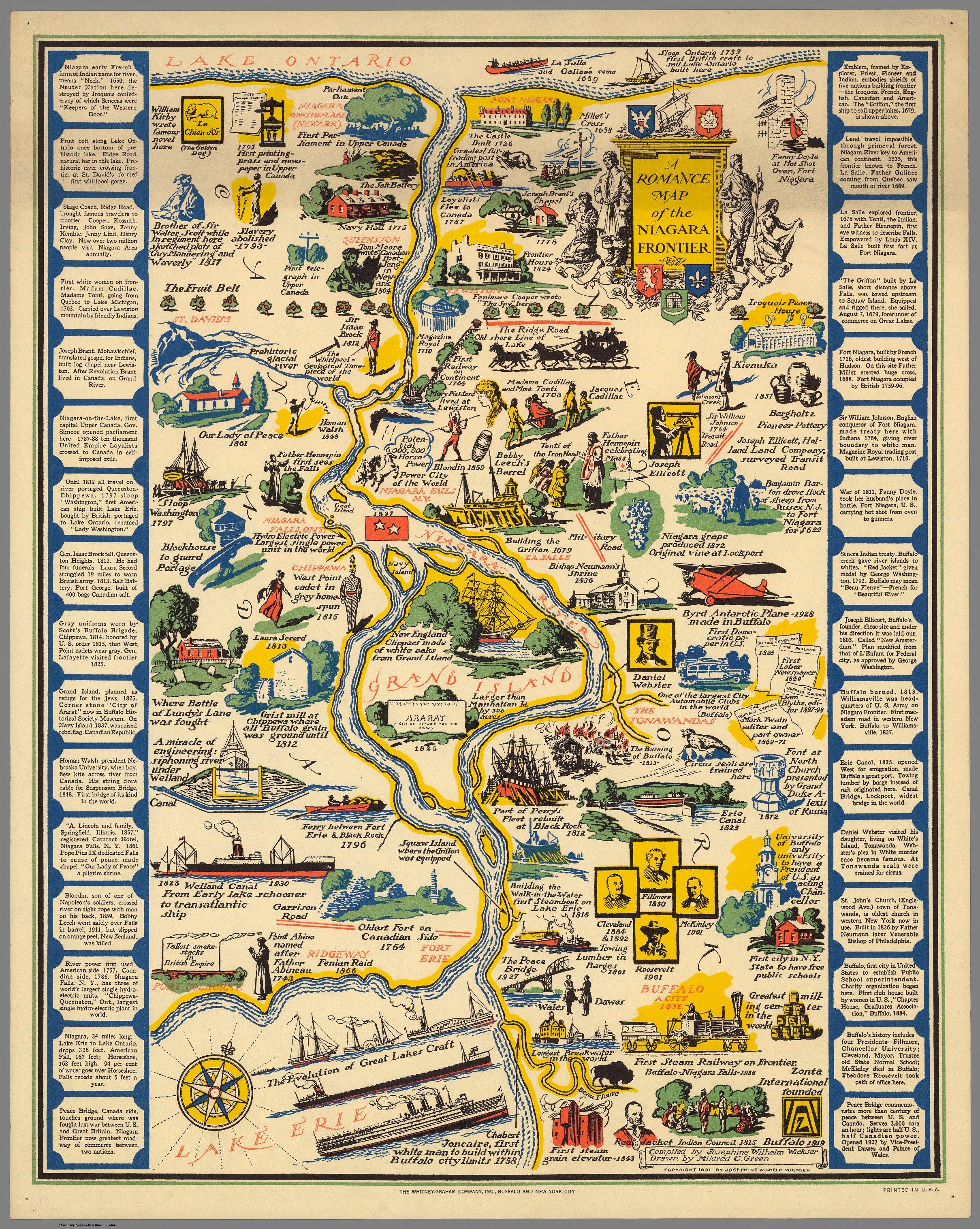 A romance map of the Niagara frontier
