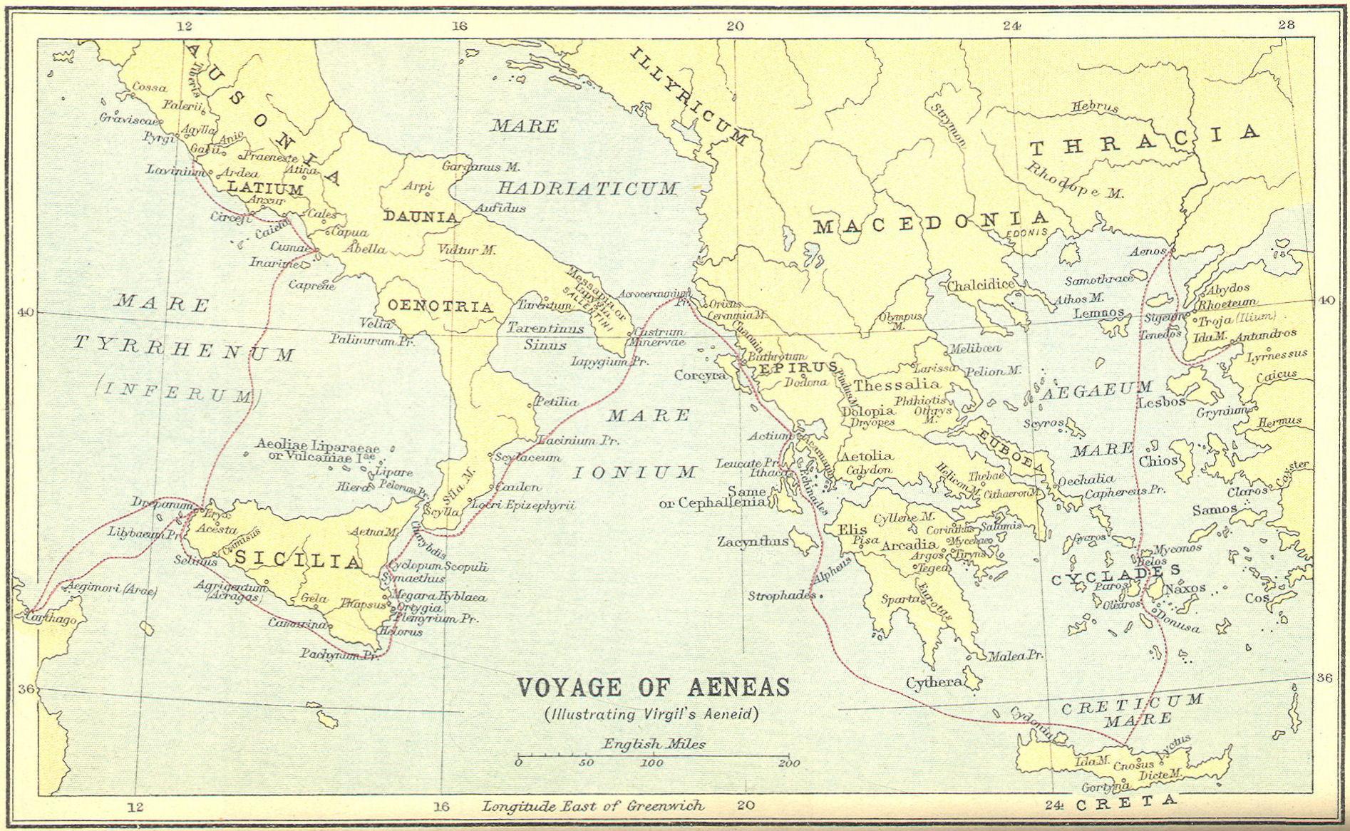 Voyage of Aeneas, Illustrating Virgil's Aeneid