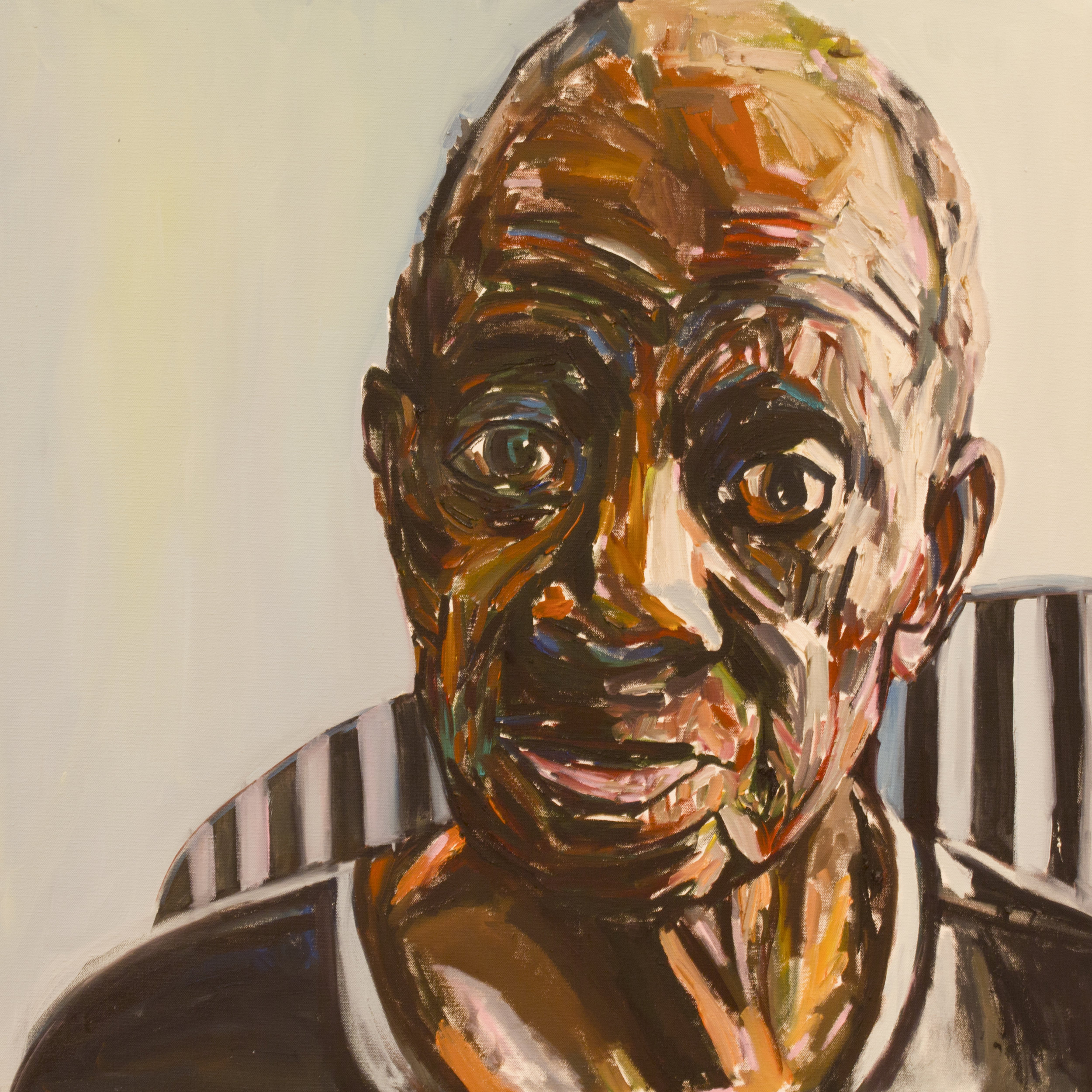 Daddy In a Striped Chair (sold)